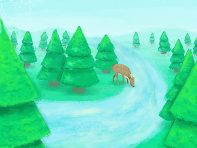 Deer Illustration digital art graphic design photoshop child illustration design illustration digital illustration