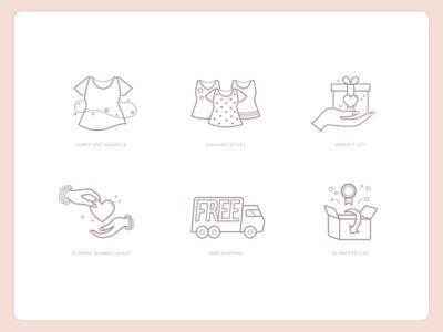 Clothing e-shop icons