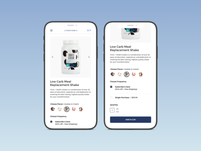 Transform Product Page