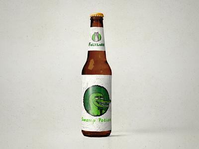 Folklore Brewery Concept Art brewery beer illustration logo design graphic design logo art typography graphic design branding