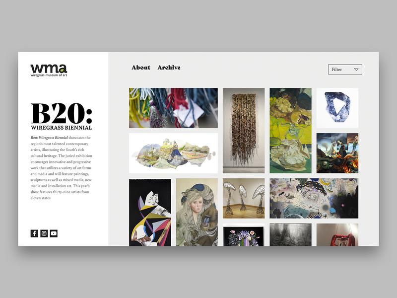 B20: Wiregrass Biennial art museum of art exhibition museum ux ui website web design graphic design typography graphic branding design