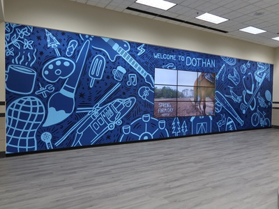 Dothan Airport Video Wall illustration graphic design typography graphic branding design