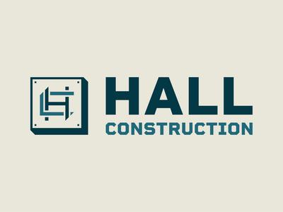 Hall Construction website work construction logo design web design design branding logo