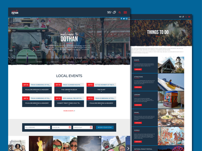 Visit Dothan city dothan events user interface graphicdesign graphic web design website