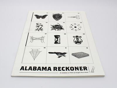 Alabama Reckoner web design book design book museum exhibition artist typography illustration graphic art website design branding