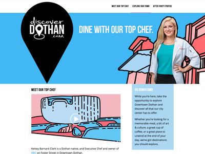 Discover Dothan graphic design animation town ui website web design graphic art design branding