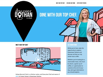 Discover Dothan graphic design animation town ui website web design graphic art design branding