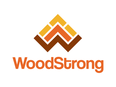 Woodstrong icon vector graphic design typography logo design graphic logo design branding