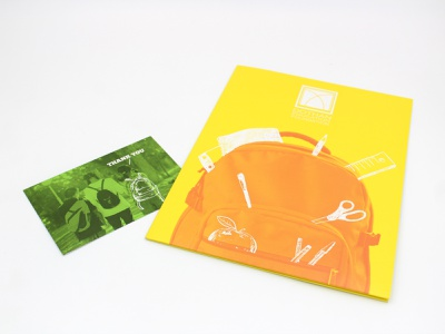 Dothan Education Foundation sheet postcard folder print illustration graphic design art typography graphic design branding