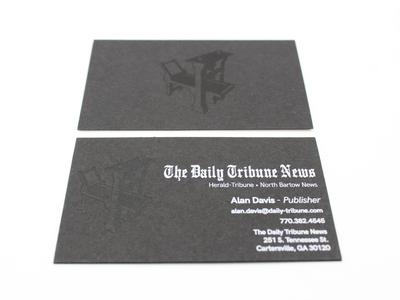 The Daily Tribune News print businesscard vector icon graphic design art typography logo graphic design branding