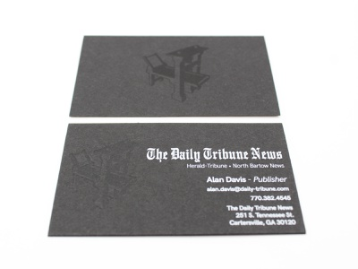 The Daily Tribune News print businesscard vector icon graphic design art typography logo graphic design branding