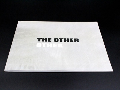 The Other Other typography layout print book exhibition art graphic design design