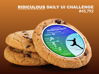 Nutrition Facts Daily UI Challenge - Ridiculous Edition. interaction design typography design logo illustration vector ui
