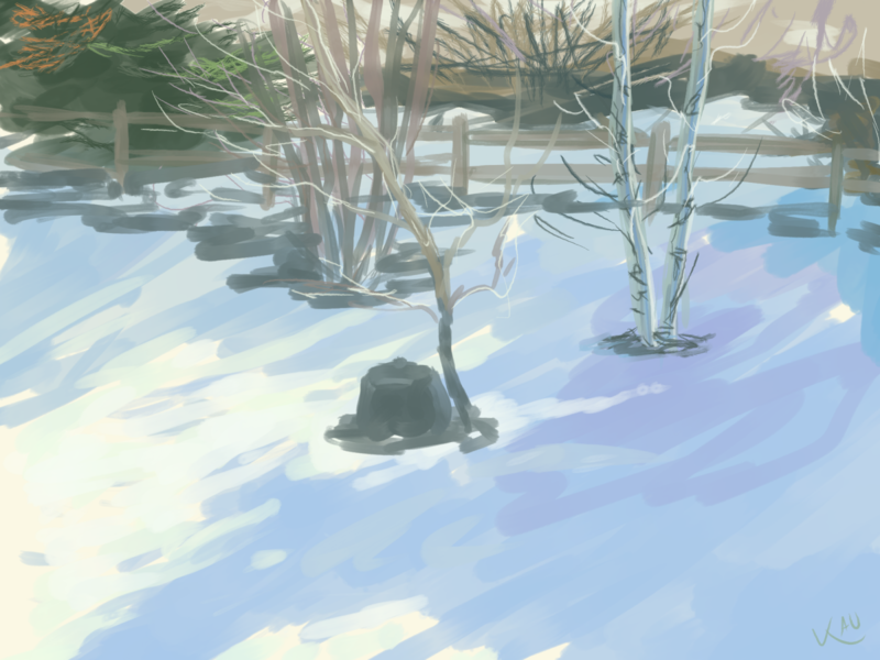 sun in winter jan 8th 2020 firealpaca from life landscape plein air digtial painting painting illustration