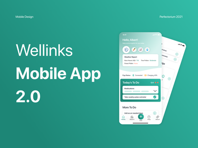 Wellinks — Medical Mobile App medical app medical medicine uiux ux mobile uidesign ui design