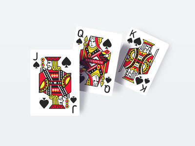 vector playing cards game character illustration yellow red black grey white spades jack queen king card game cards cg vector playing cards