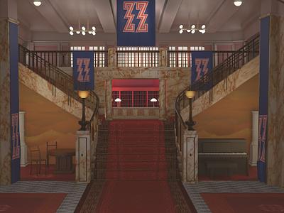 Maya modeling: The Grand Budapest Hotel stylized photorealism arnold renderer autodeskmaya art directions 3d modeling