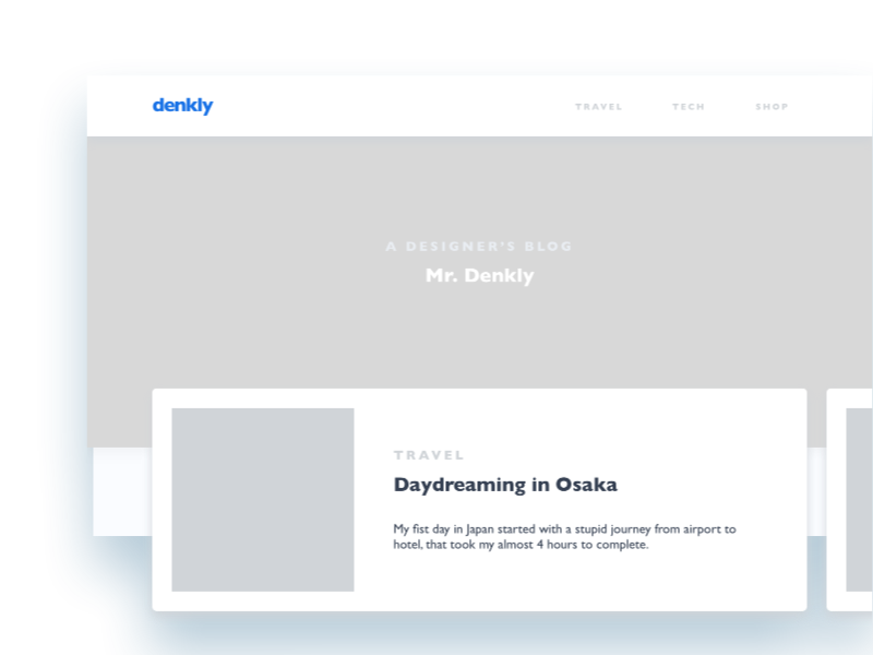 Personal blog concept / denkly