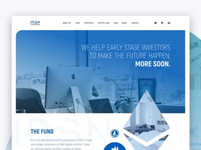Crypto Fund Landing Page