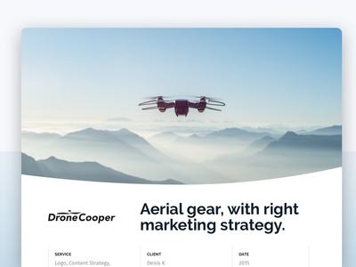 Drone Marketing website design casestudy