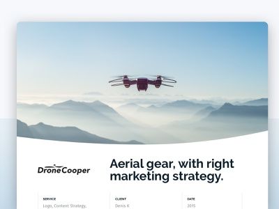 Drone Marketing website design casestudy theidsn ux typography branding ui design logo custom wordpress theme ecommerce webdesign landing minimal blue landing page clean web design idsn ui design