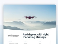 Drone Marketing website design casestudy