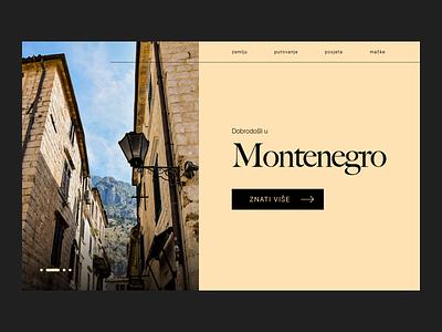 Dobrodošli u Crnu Goru kotor montenegro trips traveling travel trip ux web branding ui interface design