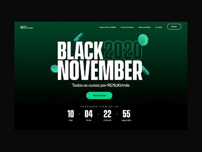Black November Descomplica vector branding ui interface design