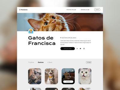 Animal Shelter Concept #1 web ui ux interface design
