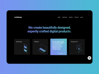 New CodeLeap Website • What We Do section html css vector illustration branding web ui ux interface design