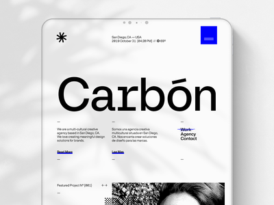 Carbón Agency Website ui design corporate identity uiux branding web design website brand identity