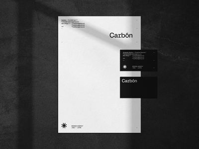 Carbón Agency - Letterhead and Business Cards stationery logo design lettermark business card logotype corporate branding corporate identity branding brand identity