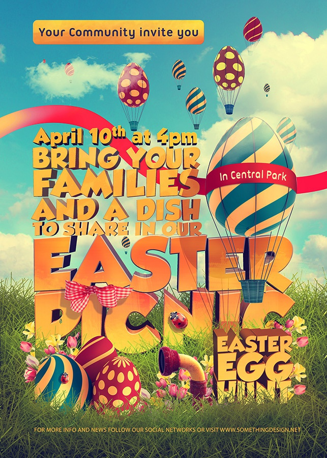 Dribbble - Easter-Picnic-Poster-Print-Template-full jpg by 2Bundles