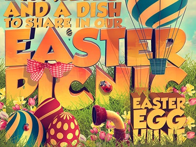 Easter Picnic Poster Print Template by 2Bundles on Dribbble