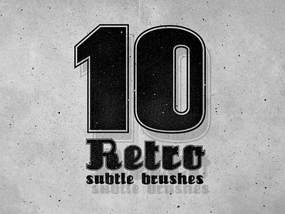 Free 10 Photoshop Subtle Brushes brush photoshop addon subtle grungy grunge vintage retro