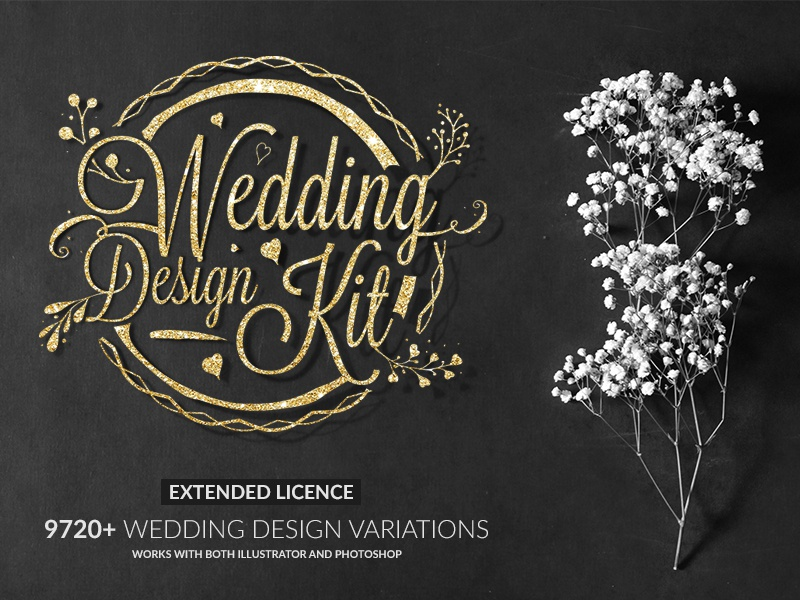 wedding design kit by 2bundles dribbble dribbble