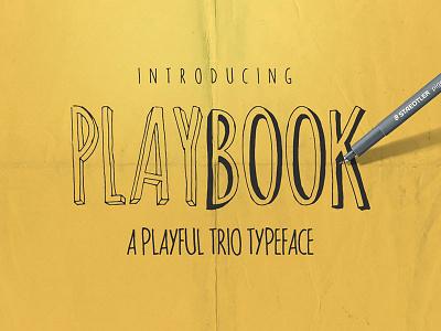 Playbook Typeface hand lettered handlettered branding logo greeting bundle trio pair brush bold regular font