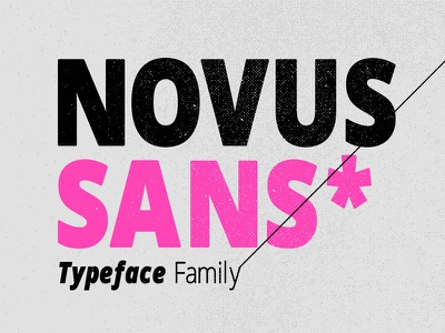 Novus Sans Typeface Family modern geometric round strong smooth bold hearty retro typeface opentype font