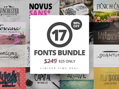 17 Fonts Bundle + Extras pack diy modern script calligraphy flowers wedding png fonts font bundle big bundle bundle