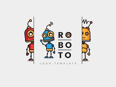 Ro Bo To Logo droid vector cartoon funny robot robo