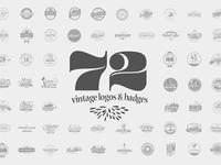 72 Vintage Logos & Badges