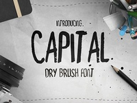 Free Font - Capital Dry Brush Font