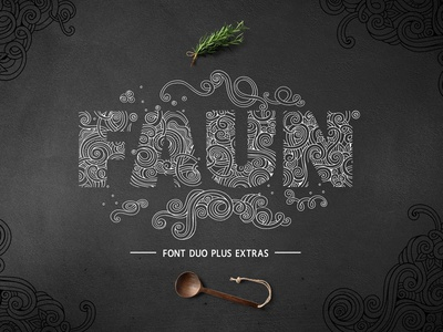 Faun Font Duo types display create branding monograms typography floral decorative font faun