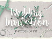 Wedding Invitation Template design print modern invitation wedding