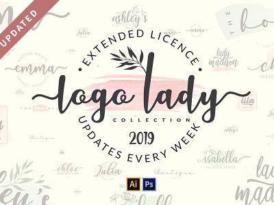 Logo Lady Collection - Starter Pack trendy fashion girly script lady logo feminine