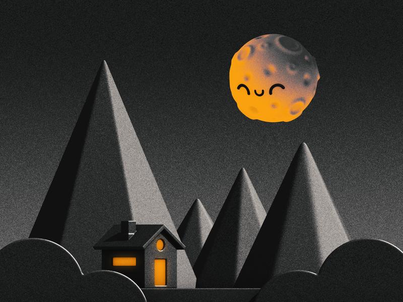 Moon at the door