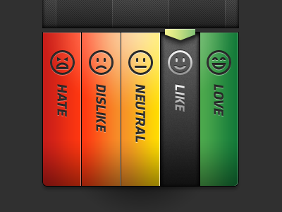 Sentiment Buttons with Emoticons