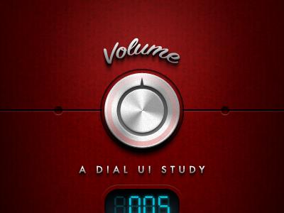 A Dial UI Study dial volume knob ui interface ue