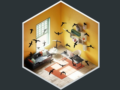 4² Rooms - The Birds