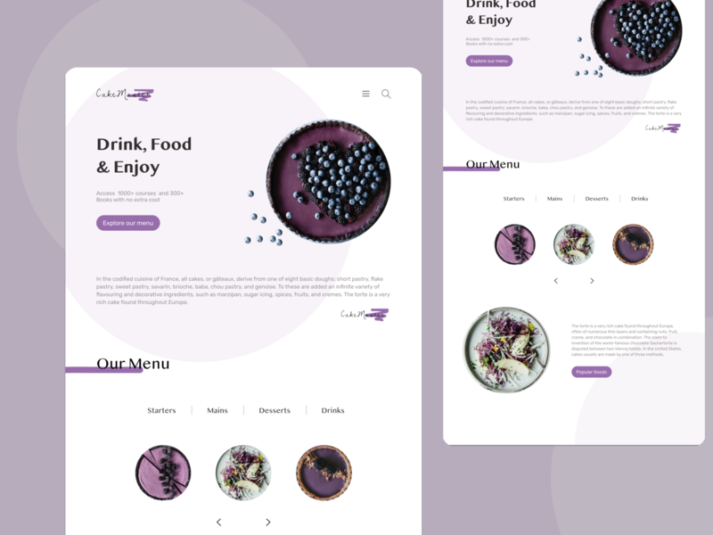 CakeMaster Web Design branding logo web art minimal website ui ux typography design